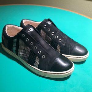 UGG Black Gray & Silver Striped Athletic Sneake 10